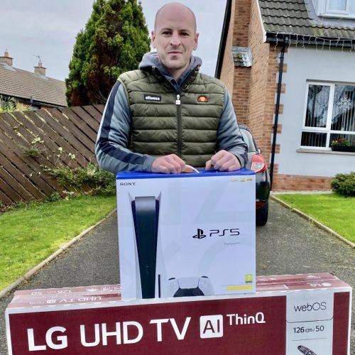 ALAN REID-Bangor-39th winner- sony ps5 plus LG 50 TV- CM Competitions NI Ltd