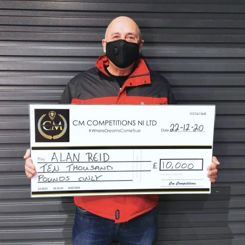 ALAN REID - Bangor - 61st winner - Car:Jeep or £10,000 Cash Winner - CmCompetitions NI