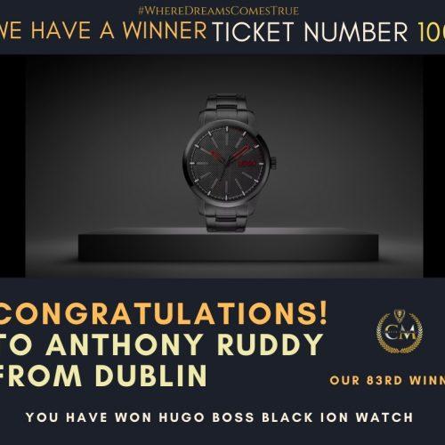 Anthony Ruddy-Dublin-83rd Winner-Hugo Boss Black ION Watch-Cm Competitions NI