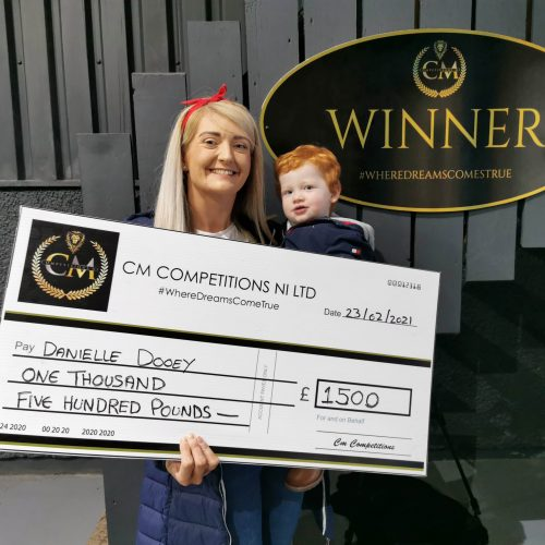 DANIELLE DOOEY-Cloughmills-105th Winner-£1500 Cash For 99p #7-Cm Competition NI