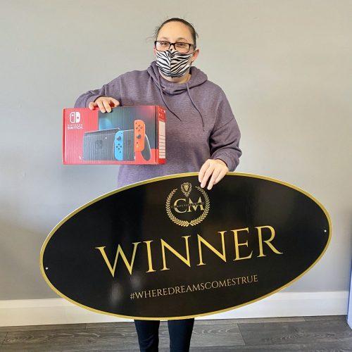 DONNA LYONS-Bangor-48th winner- Nintendo Switch- CM Competitions NI Ltd