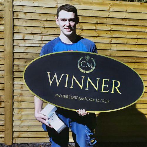 Eugene Diamond-Ballymoney-21st winner-Aple Gym Bundle- CM Competitions NI Ltd