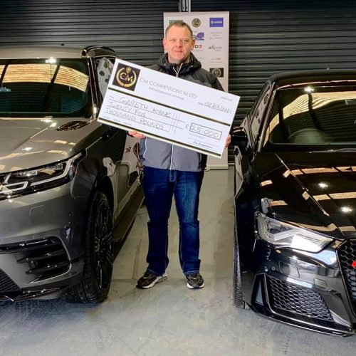 GARETH KANE-Ballymoney-121st Winner-Range Rover Velar or Audi RS3 Or Alternative £25,000 Cash Prize-Cm Competitions NI
