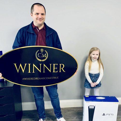 GEORGINA MAHAFFEY-Belfast-49th winner- sony ps5 for £3- CM Competitions NI Ltd