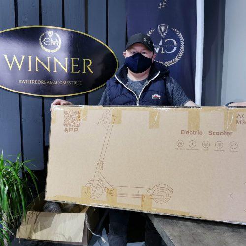 JOHN MURAY-Ballymoney-53rd winner- Aovo Electric Scooter- CM Competitions NI Ltd