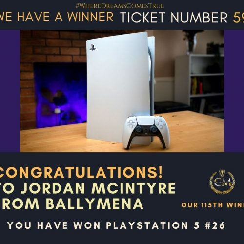 JORDAN MCINTYRE-Ballymena-115th Winner-PS5 #26-Cm Competitions NI