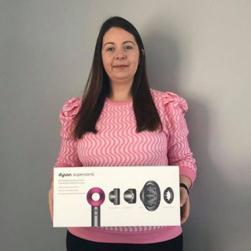 JULIE WOODS-Garvagh-88th Winner-Dyson SuperSonic Hair Dryer-Cm Competitions NI