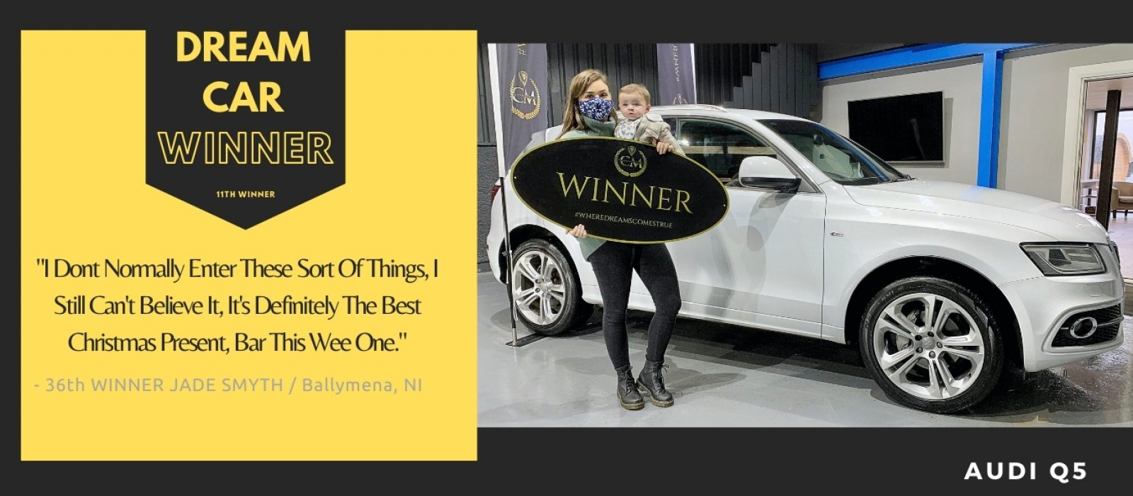 Jade Smyth- Ballymena - 36th Winner - Audi Q5