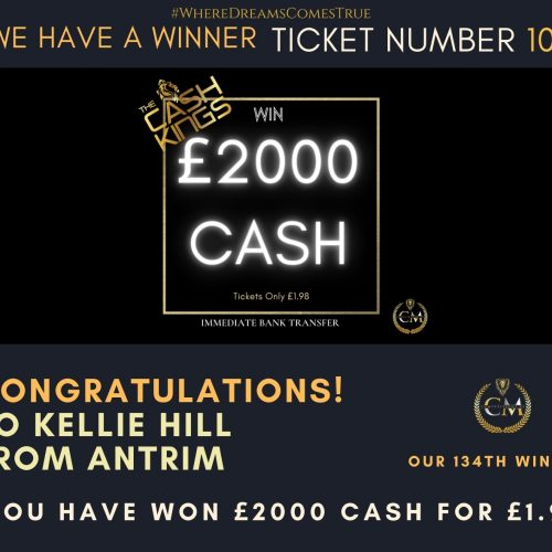 KELLIE HILL-Antrim-134 winner-£2000 cash for £1.98-Cm Competitions NI