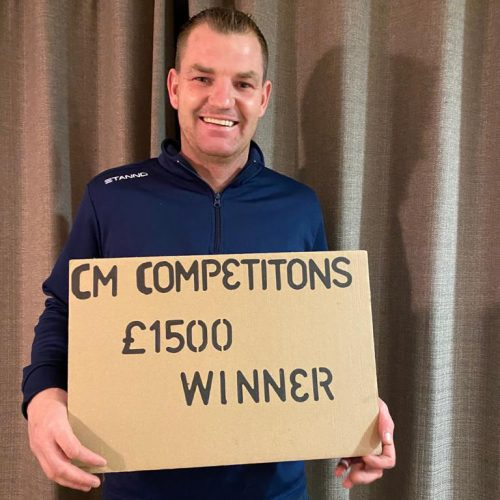 KYLE MILLS-Strabane-113th winner-£1500 for 99p #9-cm competitions NI