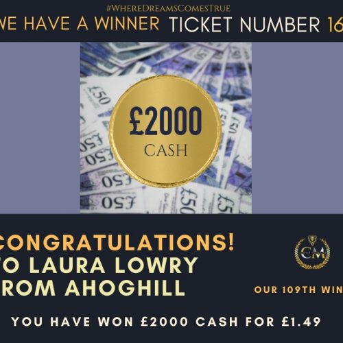 LAURA LOWRY-Ahoghill-109th Winner-£2000 Cash For £1.49-Cm Competitions NI