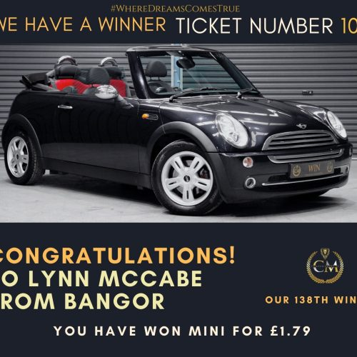 LYNN MCCABE-Bangor-138th winner-mini convertible for £1.79-Cm Competitions NI