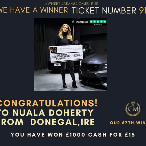 NUALA DOHERTY-Donegal,Ire-86th Winner-£1000 Cash For £15-Cm Competitions NI