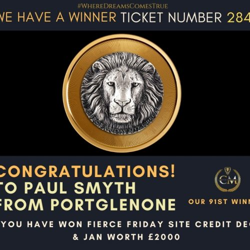 PAUL SMYTH-Portglenone-91st Winner-Fierce Friday Site Credit £2000-Cm Competitions NI