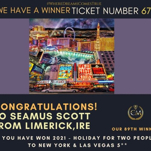 SEAMUS SCOTT-Limerick,Ireland-89th Winner-2021-Holiday for two people to New York & Las Vegas-Cm Competitions NI