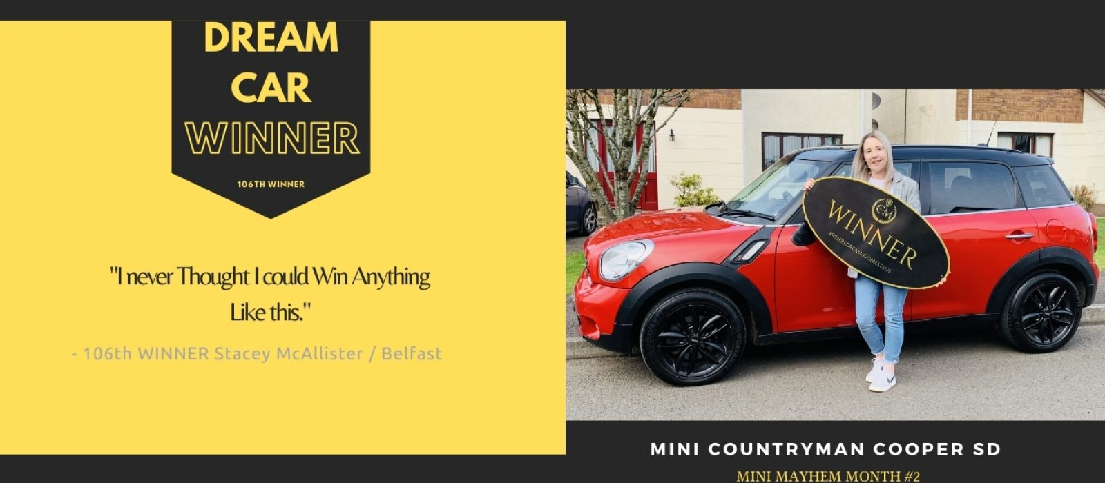 STACEY MCALLISTER-Belfast-106th Winner-Mini Mayhem Month #2-Cm Competitions NI