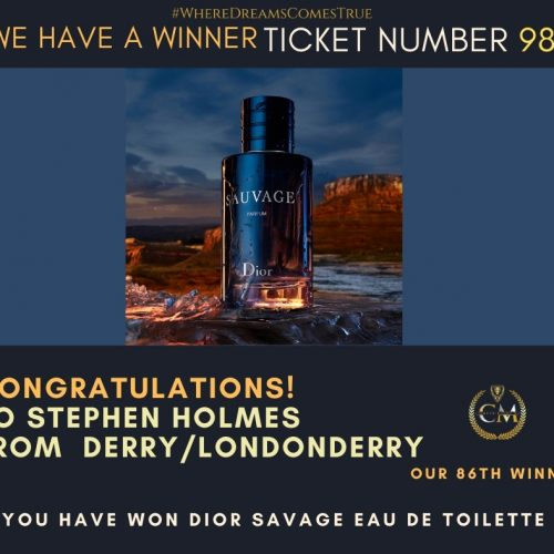 STEPHEN HOLMES-Derry:Londonderry-86th winner- Dior Savage Eau De Toilette-Cm Competitions NI
