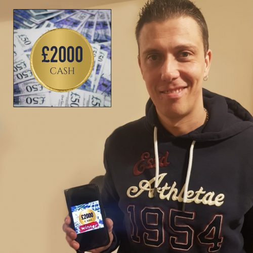 STEPHEN HOLMES-Portglenone-117th Winner-£2000 Cash For £2-Cm Competitions NI