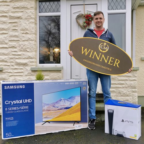 STEPHEN SIMMONDS-Cullybackey-28th Winner-#1 sony ps5:tv:cash bundle-CM Competitions NI Ltd