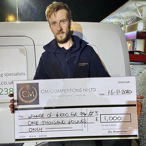 THOMAS BATES-Ballyclare-24th winner-£1000 for 99p- CM Competitions NI Ltd
